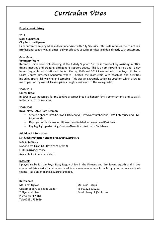 sample resume assistant city manager