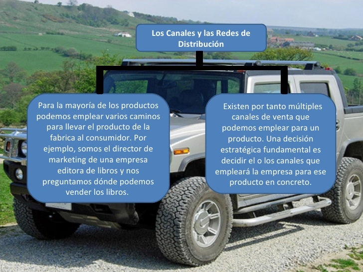 Los Canales y las Redes de Distribución  Para la mayoría de los productos podemos emplear varios caminos para llevar el p...