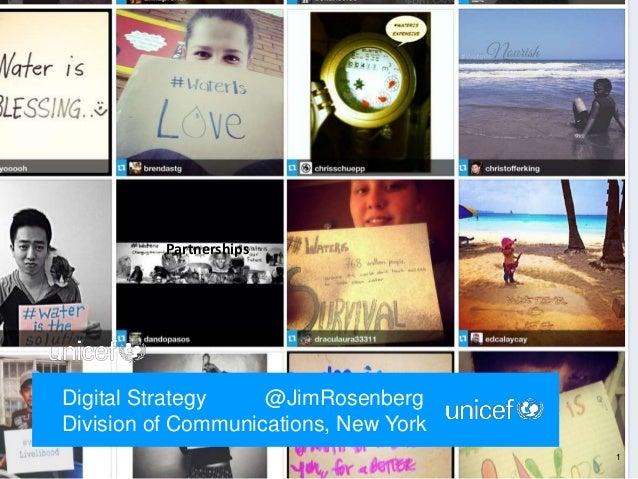 UNICEF Digital Strategy, social media, mobile, web, video, photo, global communications