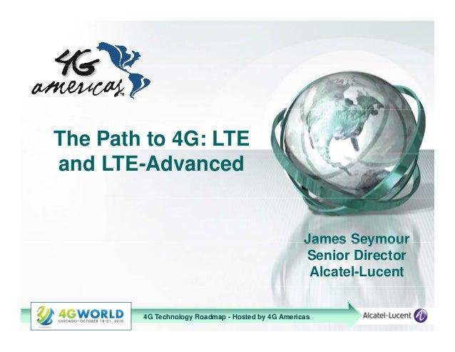 Jim seymour, alcatel lucent lte and lte-advanced