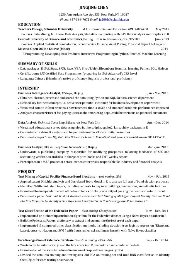 Data Analyst Resumes Data Analyst Resume Template 8 Free Word
