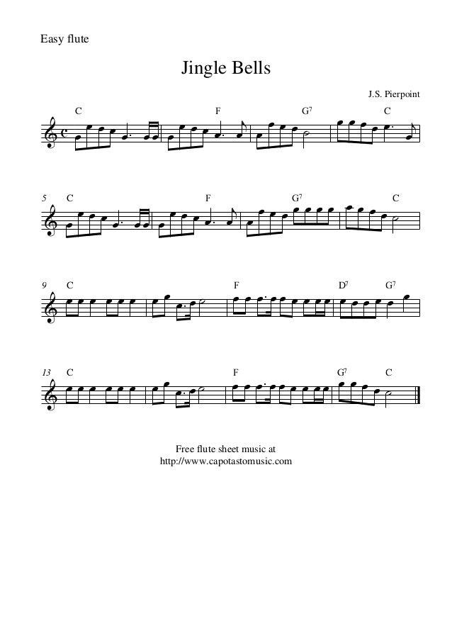 jingle bells flute sheet music