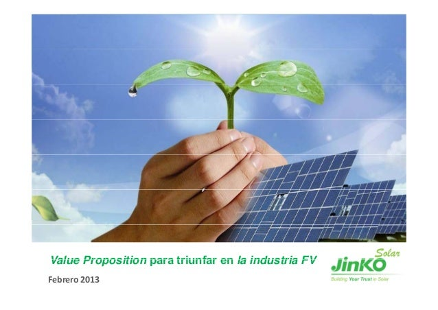 Value Proposition para triunfar en la industria FVFebrero 2013