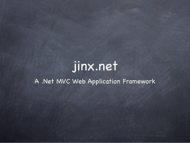 "Jll""I>< .  net A . Ne'r MVC Web Application Framework"