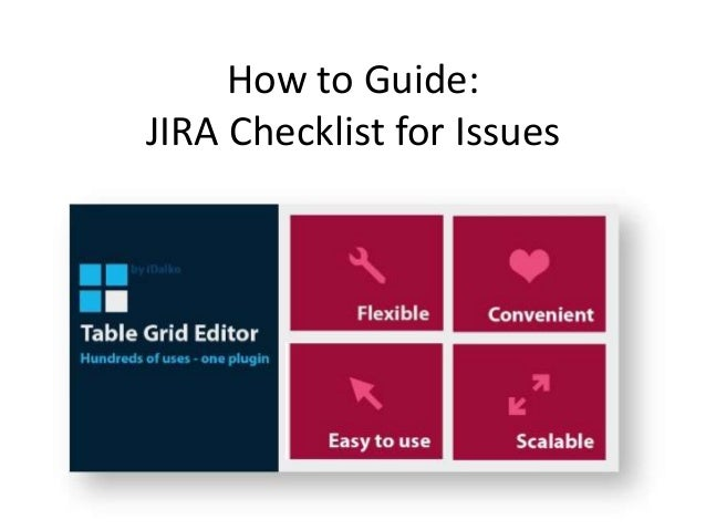 How to Guide: JIRA Checklist for Issues