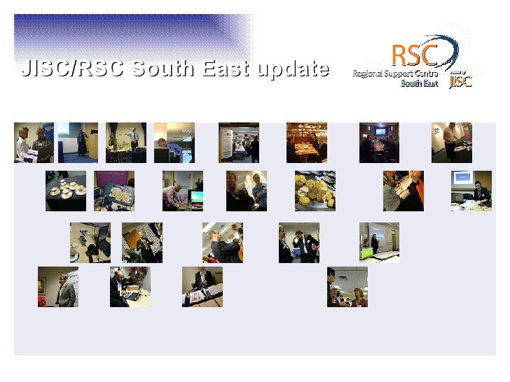 JISC RSC SE update for AOSEC Libraries & ICT Learning centres network