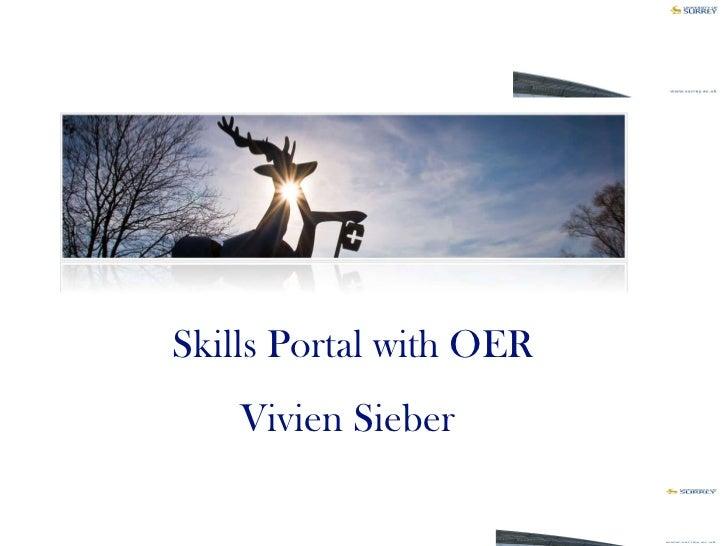 Skills Portal with OER Vivien Sieber