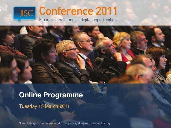 JISC11 Online Programme