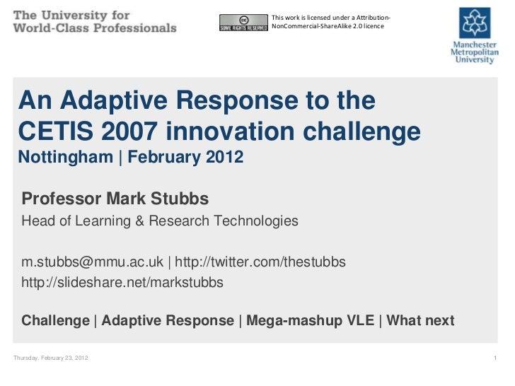 JISC-CETIS 2012 Closing Keynote