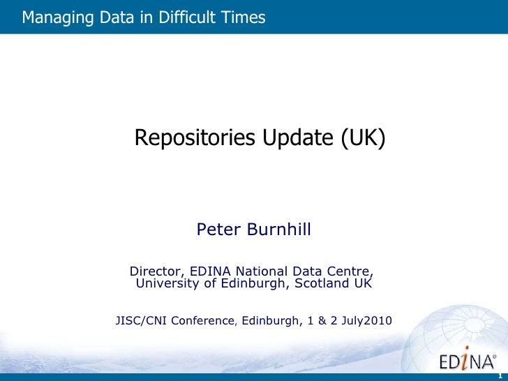 Repositories Update (UK)