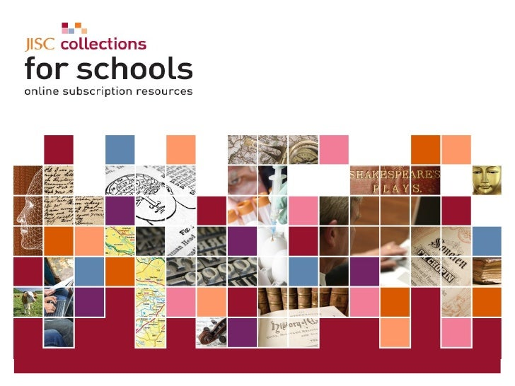 5 June 2009   |   JISC Collections for Schools- An important role for RBCs  |  Slide