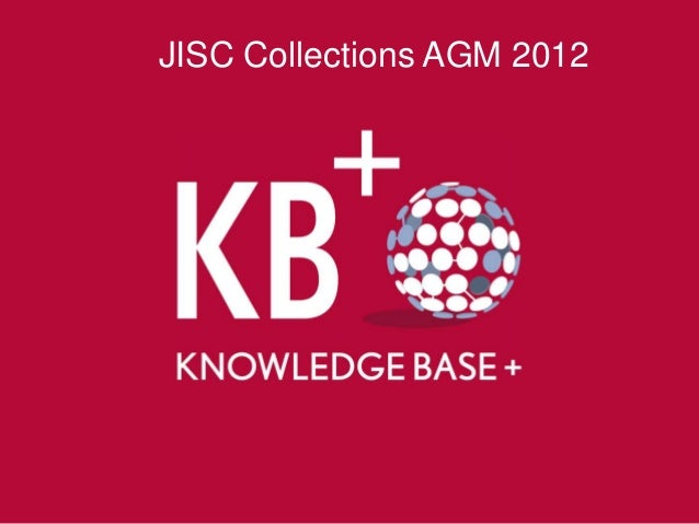 JISC Collections AGM 2012