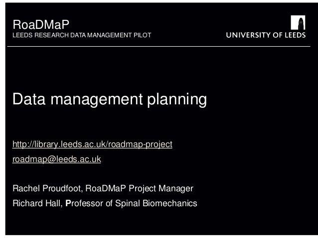 Data Management Planning presentation at JISC workshop
