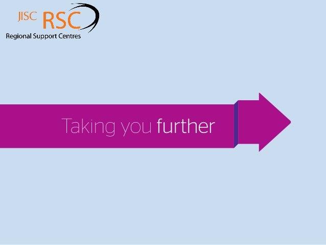 Jisc RSC summary presentation for Insight 2013