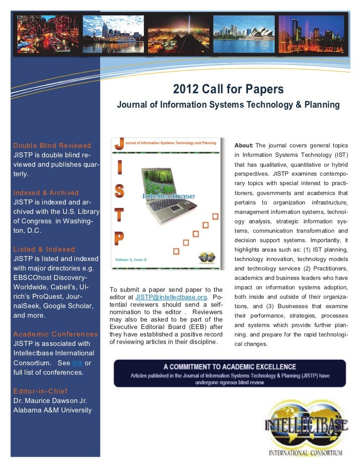 JISTP Call for Papers 2012