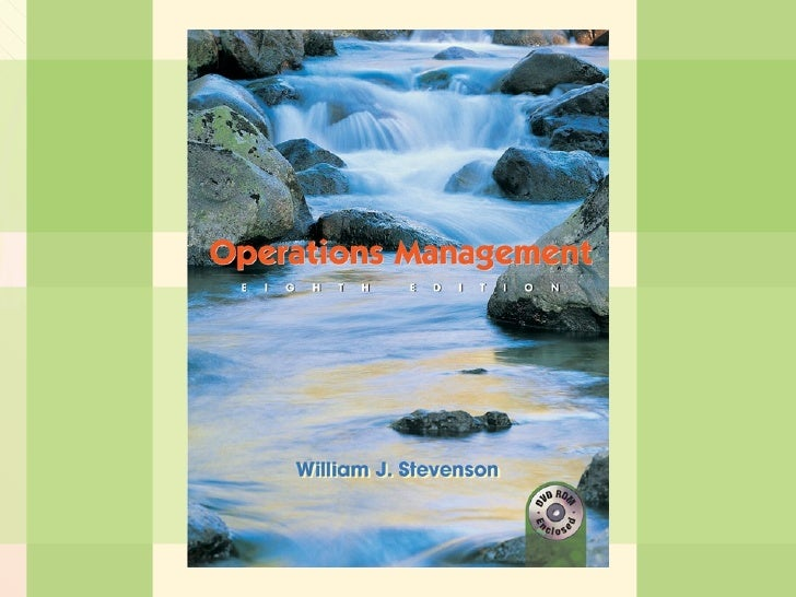 William J. Stevenson  Operations Management 8 th  edition