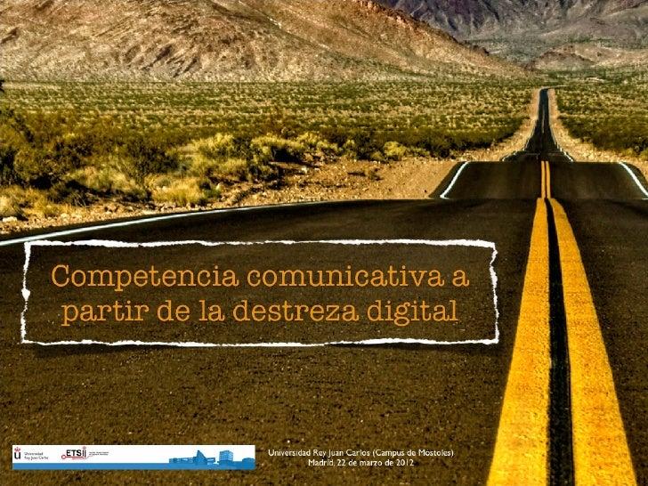 Competencia comunicativa a través de la competencia digital
