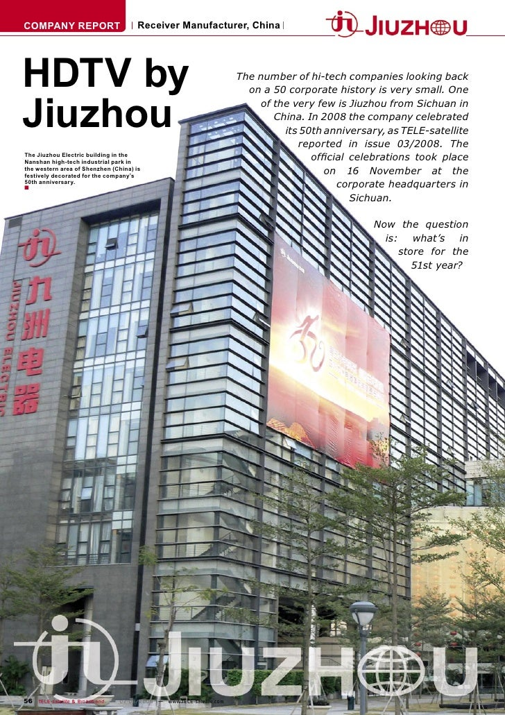 COMPANY REPORT                        Receiver Manufacturer, China     HDTV by                                            ...