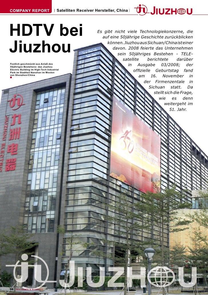 COMPANY REPORT                         Satelliten Receiver Hersteller, China     HDTV bei                                 ...