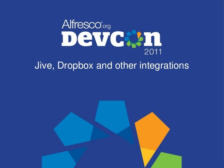 Jive, Dropbox and other integrations