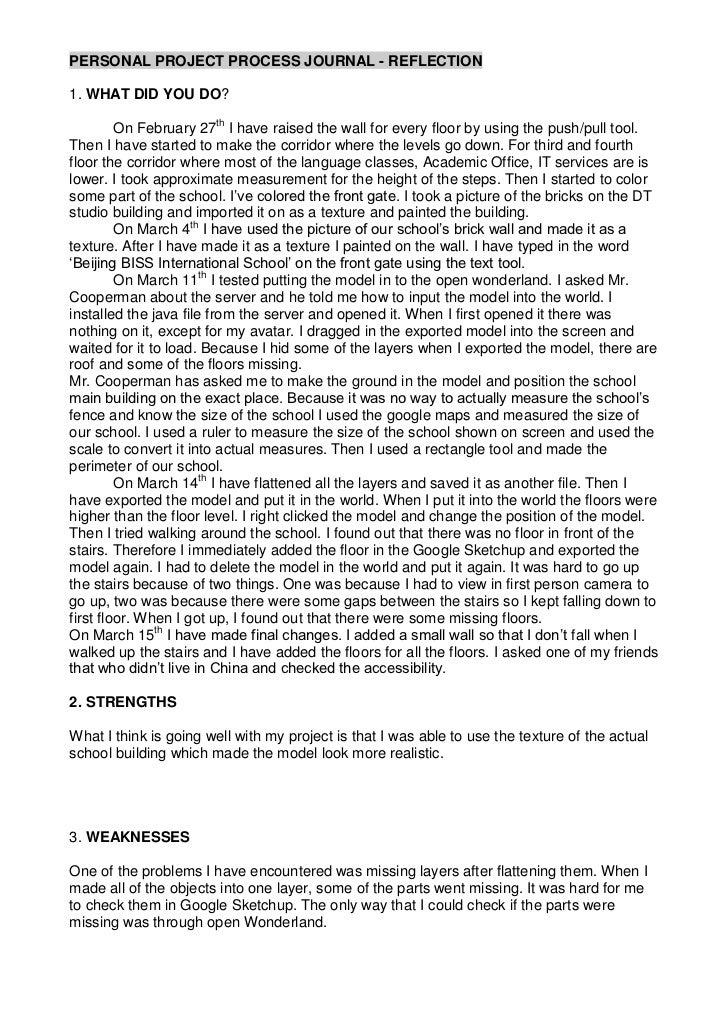 Ji yoon  10-11 process journal reflection - general - march 15th
