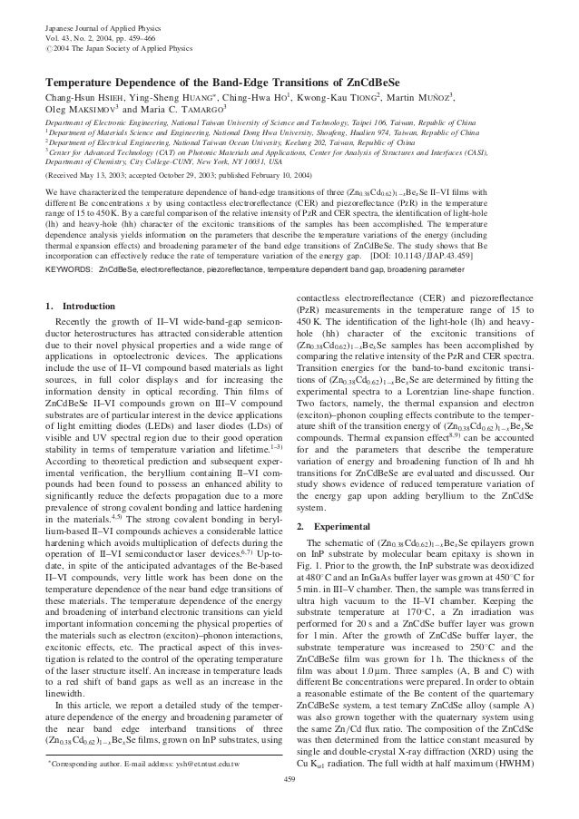 Temperature Dependence of the Band-Edge Transitions of ZnCdBeSe