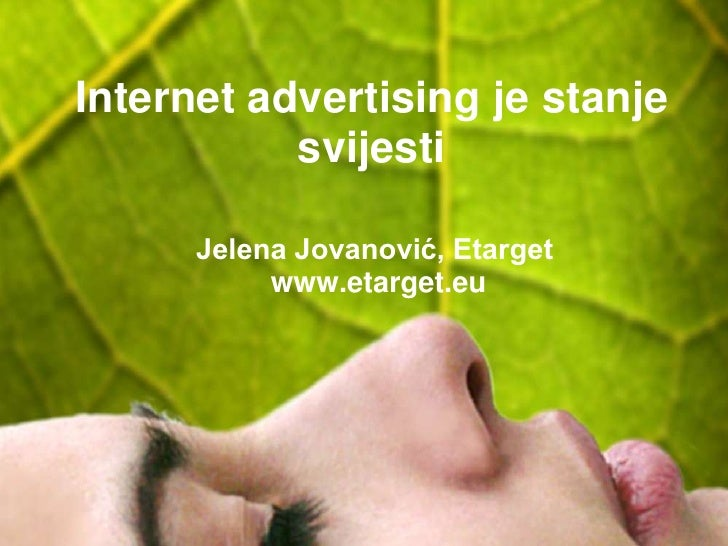 Internet advertising je stanje svesti