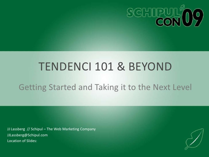 Intro To Tendenci - JJ Lassberg