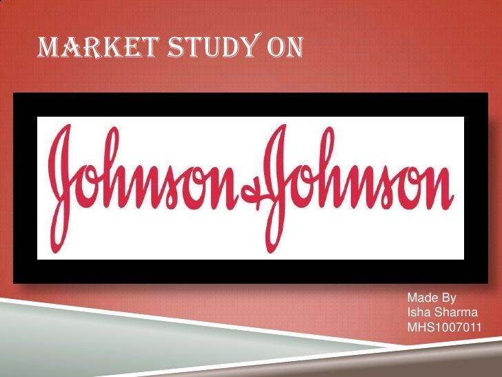 J&j market study project