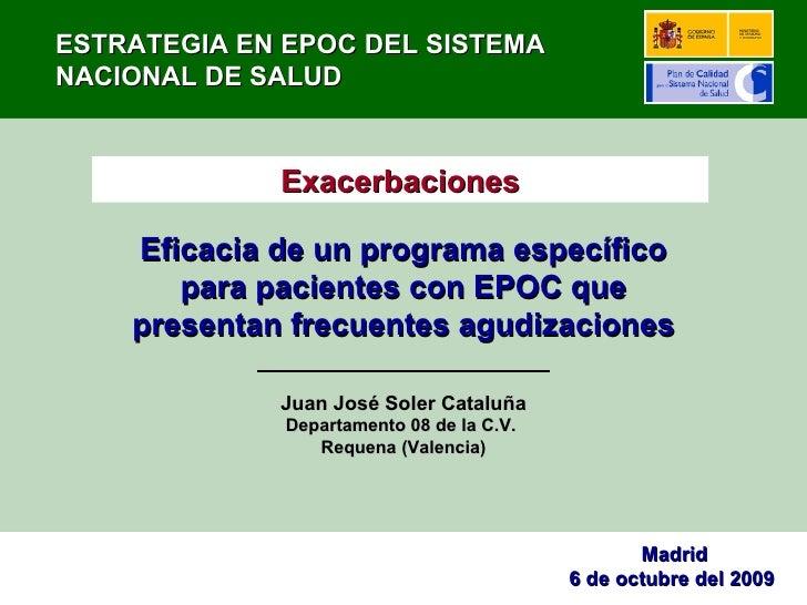 Eficacia de un programa específico para pacientes con EPOC que presentan frecuentes agudizaciones