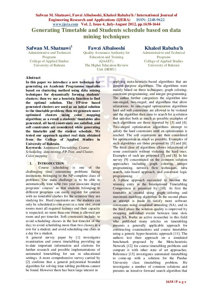 Safwan M. Shatnawi, Fawzi Albalooshi, Khaleel Rababah / International Journal of             Engineering Research and Appl...