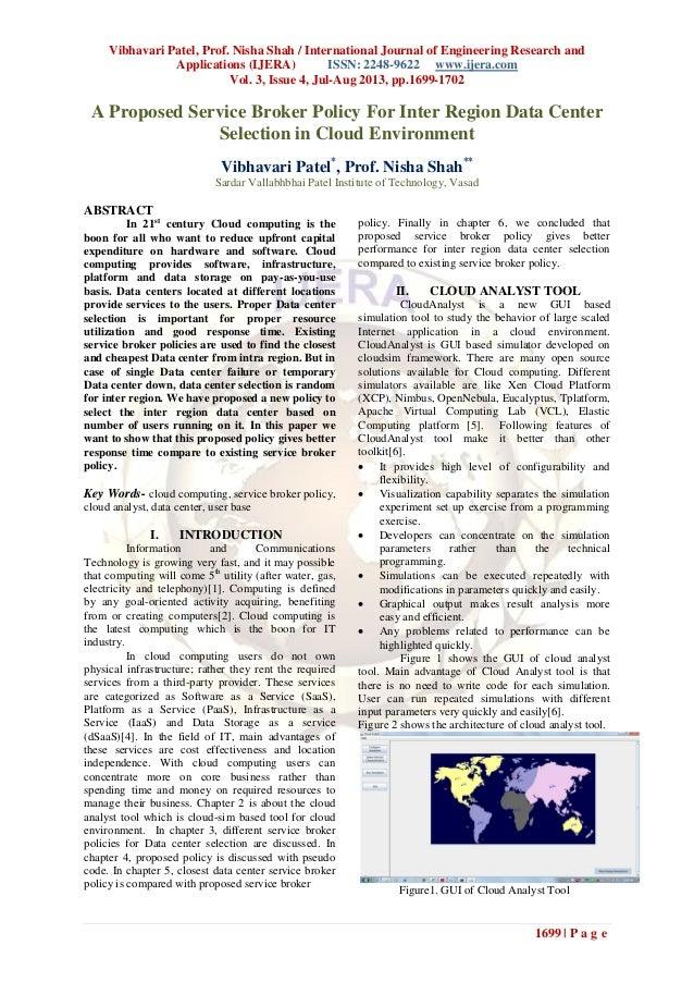 Vibhavari Patel, Prof. Nisha Shah / International Journal of Engineering Research and Applications (IJERA) ISSN: 2248-9622...