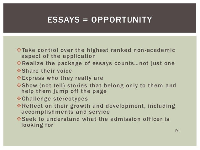 helping students write college essays