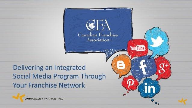 Delivering an IntegratedSocial Media Program ThroughYour Franchise Network