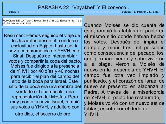 Parasha semana 22