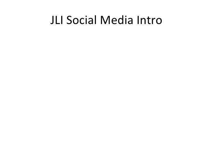 JLI Social Media Intro