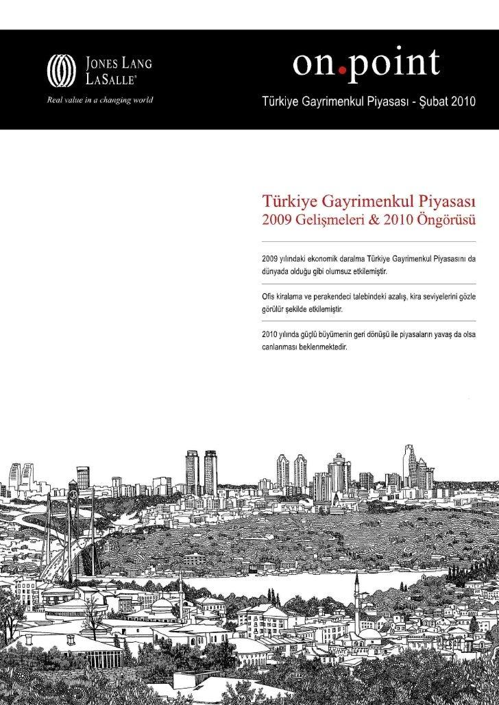 Jll 2009 Turkiye Gayrimenkul Piyasasi Raporu