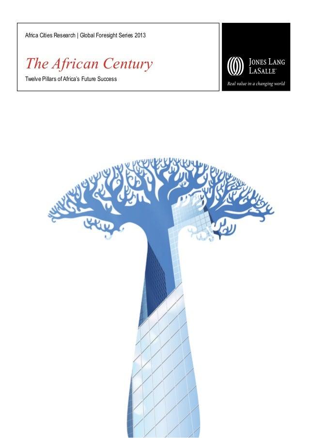 The African Century Twelve Pillars of Africa's Future Success