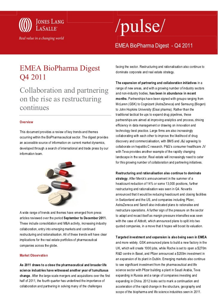 EMEA BioPharma Digest - Q4 2011EMEA BioPharma Digest                                                    facing the sector....