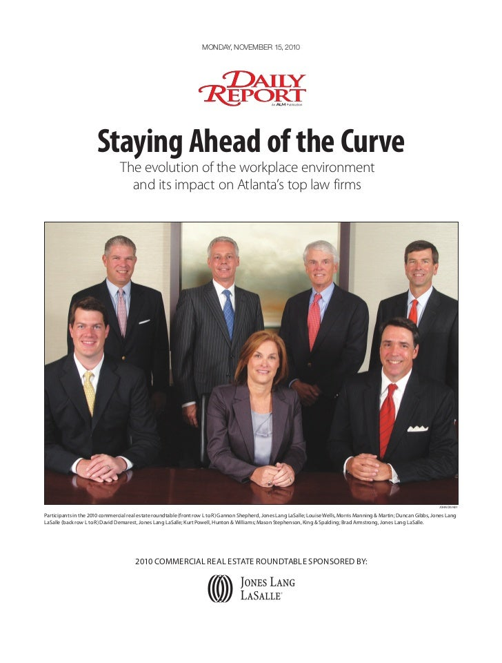 Monday, noveMber 15, 2010                      Staying Ahead of the Curve                                The evolution of ...