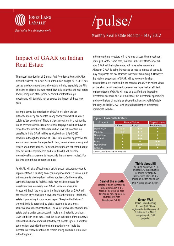 Monthly Real Estate Monitor – May 2012                                                                          In the mea...