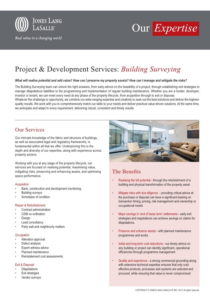 JLL - Building Surveying 2012
