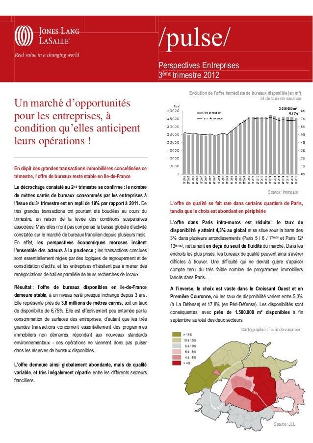 Perspectives Entreprises                                                                        3ème trimestre 2012       ...