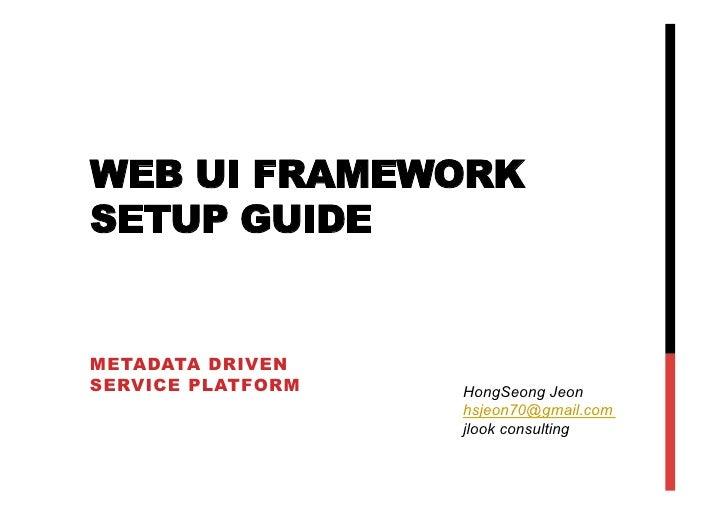 Jlook web ui framework