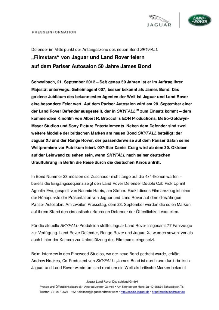 """Defender im Mittelpunkt der Anfangsszene des neuen Bond SKYFALL""""Filmstars"""" von Jaguar und Land Rover feiernauf dem Pariser..."""