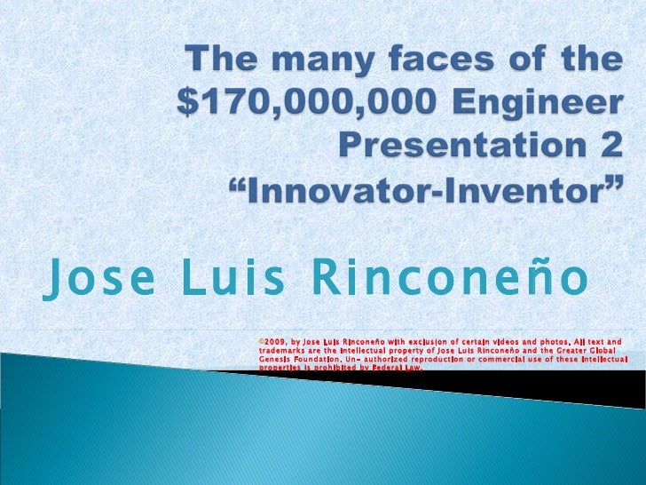 Jose Luis Rinconeño © 2009, by Jose Luis Rinconeño with exclusion of certain videos and photos. All text and trademarks ar...