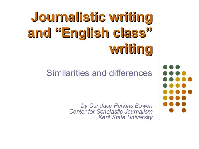 journalism essay writing So the overriding message in journalistic writing is: always prefer the active tense in news writing in his essay politics and the english language.