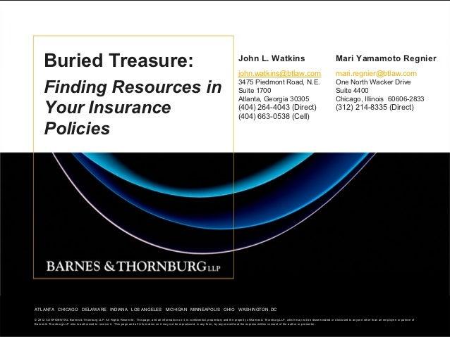 Buried Treasure:                                                                                                          ...