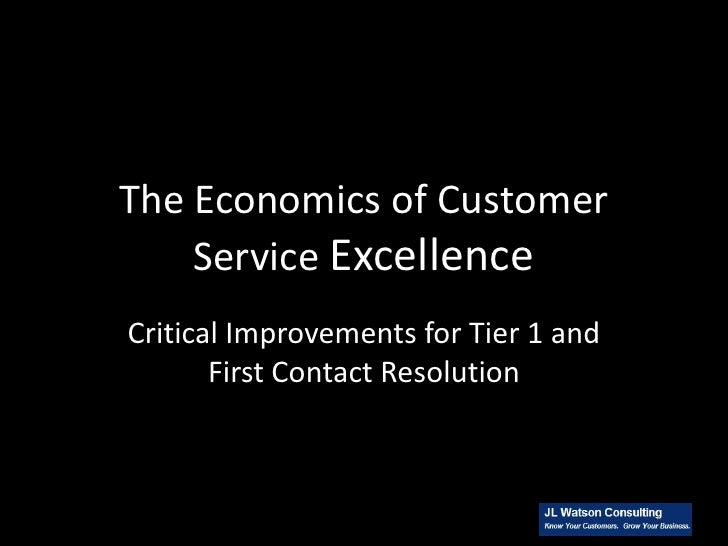 The Economics of Customer Service Excellence