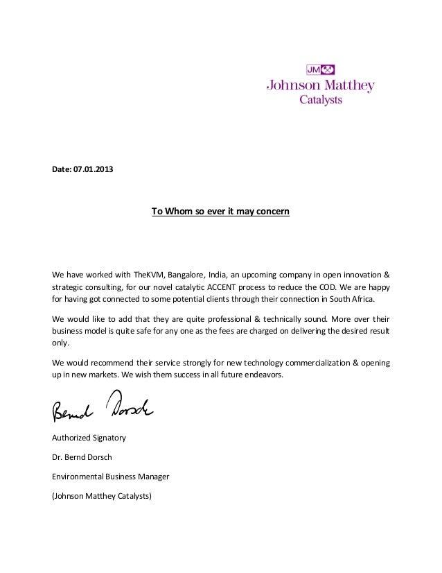 Thekvm Credential Letter By Jm Catalyst